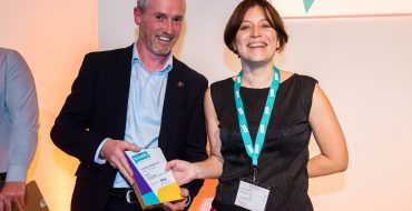 Sian Rogers of Calderdale Metropolitan Borough Council accepting her Locality award