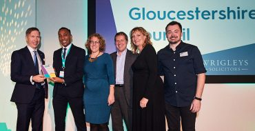 South Gloucestershire Council collecting their award